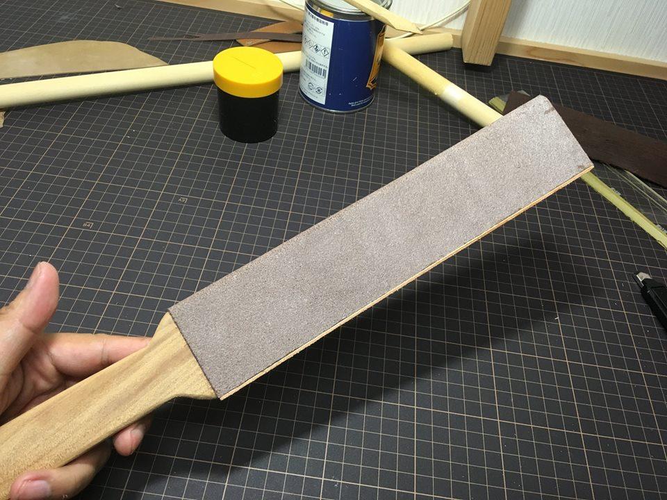 レザークラフトの刃物磨き