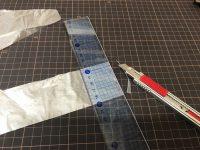 携帯バッグ作り その2 -レジ袋を分解-